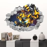 """3D Наклейка на стену """"Трансформеры - Бамблби"""""""
