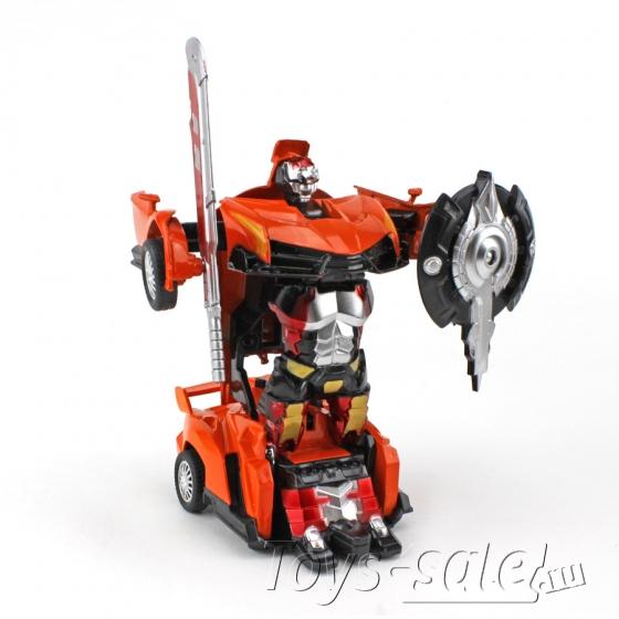 Мини - Трансформер (Металл / пластик) Ламборгини Оранжевый