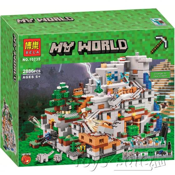 Конструктор MY World Горная Пещера Майнкрафт 21137 BELA 10735(2886 детали)