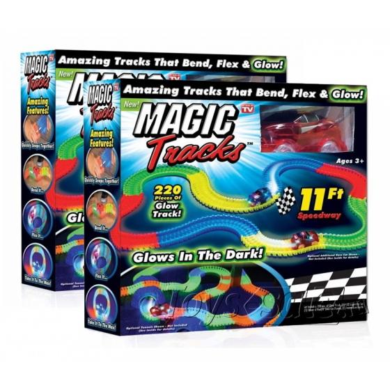 Гоночная трасса Magic Tracks 440 светящаяся Mega Set - 440 деталей