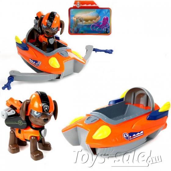 """Набор игрушек Щенячий патруль """"Морской Патруль"""" - 6 героев с большими машинками + Райдер"""
