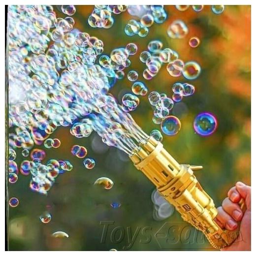 """Генератор мыльных пузырей """"Миниган"""" золотой"""