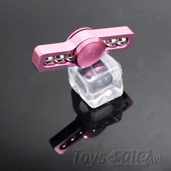 Спиннер металлический Розовый (две лопасти)