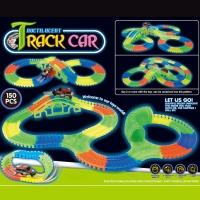 Гоночная трасса Tracks Car светящаяся 150 деталей