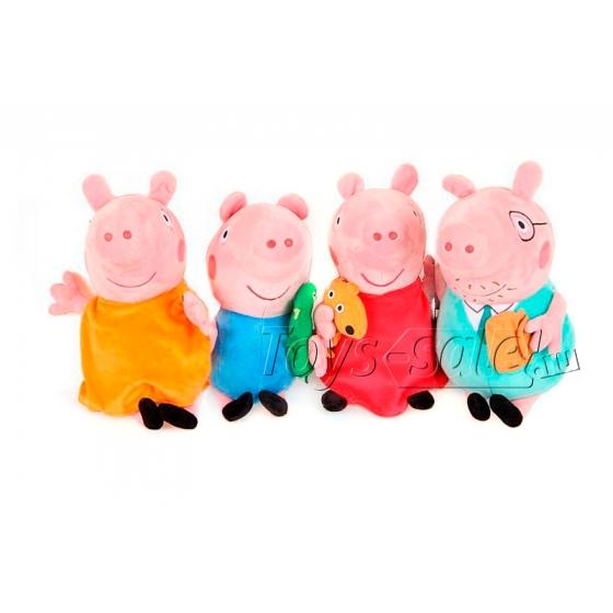 Плюшевый набор Семья Свинки Пеппы