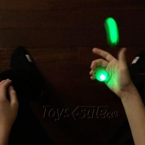 Антистресс-игрушка Thumb Chucks YoYo - Прозрачный с подсветкой