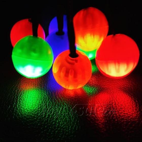 Антистресс-игрушка Thumb Chucks YoYo - Синий с подсветкой