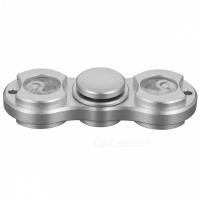 Спиннер металлический Серебристый (две лопасти) - Подсветка