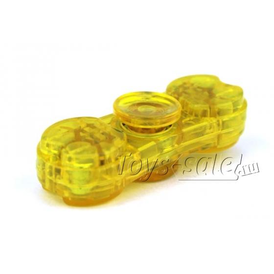 Спиннер Желтый (две лопасти) - Подсветка, полупрозрачный