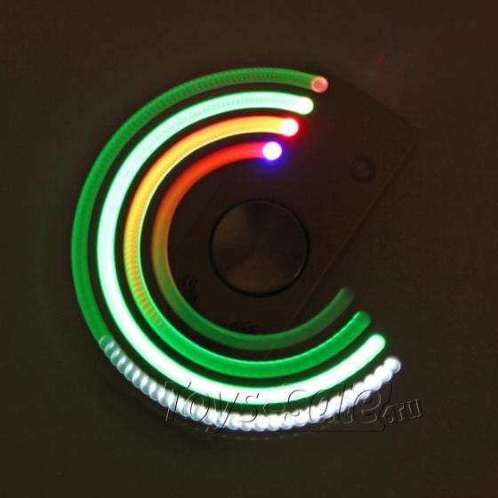 Спиннер - зажигалка Металлический (Синий) Три лопасти - подсветка