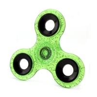 Спиннер Зеленый (три лопасти) - полупрозрачный, блестки