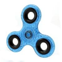 Спиннер Синий (три лопасти) - полупрозрачный, блестки