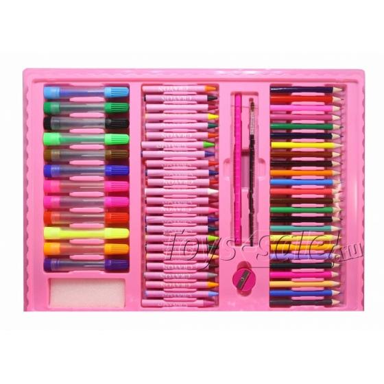 Набор для рисования 176 предметов с мольбертом для детей