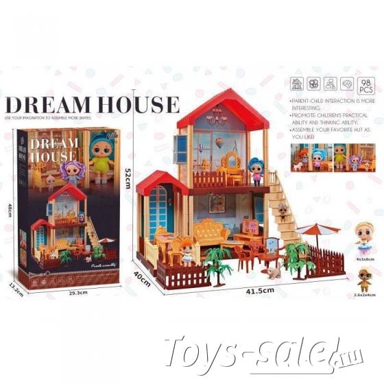Кукольный домик Дреам хаус (Dream House LL - 056) 95 деталей