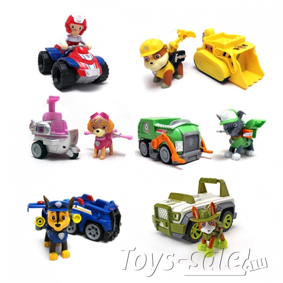 Набор игрушек Щенячий патруль - 6 героев с транспортом и рюкзаками трансформерами