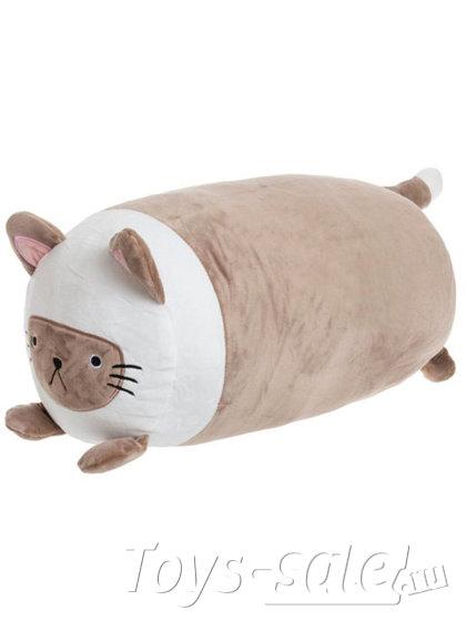 Мягкая игрушка Кот Батон 42 см коричневый