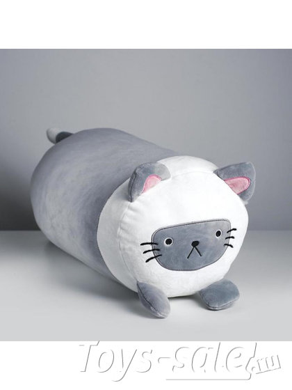 Мягкая игрушка Кот Батон 42 см серый