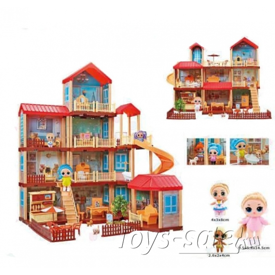Кукольный домик Дреам хаус (Dream House) 322 деталей