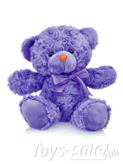 Мягкая игрушка Мишка 22 см (фиолетовый)