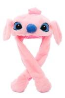 Смешная шапка с поднимающимися ушами Стич (розовая)
