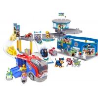 Набор игрушек Щенячий Патруль (Paw Patrol) - Полицейская станция + Автобус спасателей