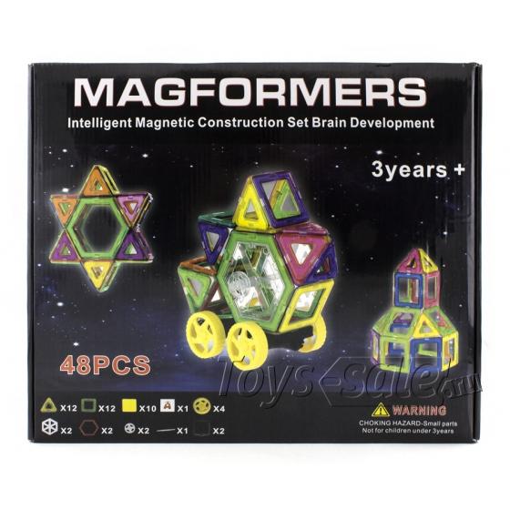 Магнитный конструктор MAGFORMERS 48 деталей