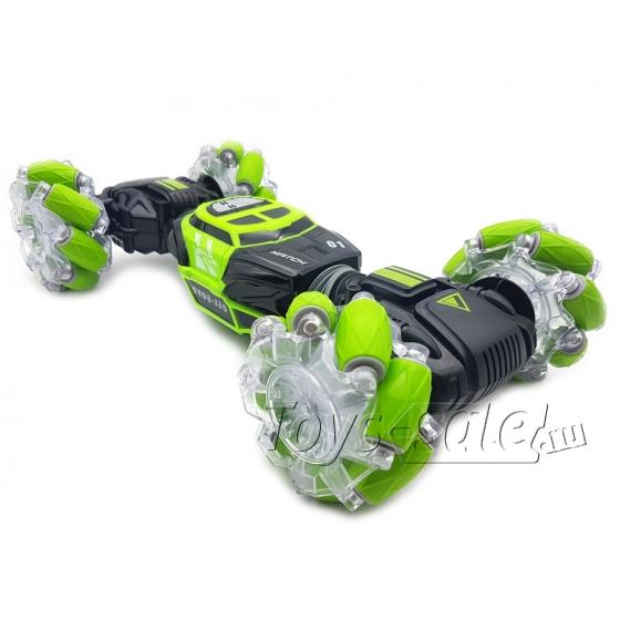 Машинка перевертыш HYPER SKIDDING c управлением жестами (34 см) зеленая