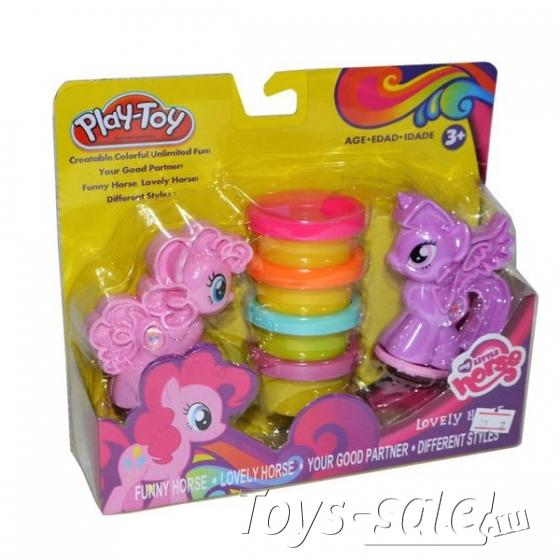 "Пластилин для лепки ""Play-Toy"" My Little Horse с аксессуарами, 4 цвета"