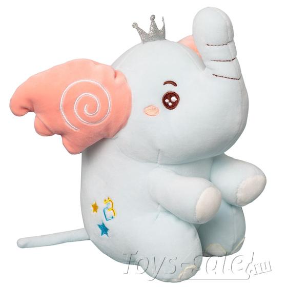 Мягкая игрушка Слоник 25 см (голубой)