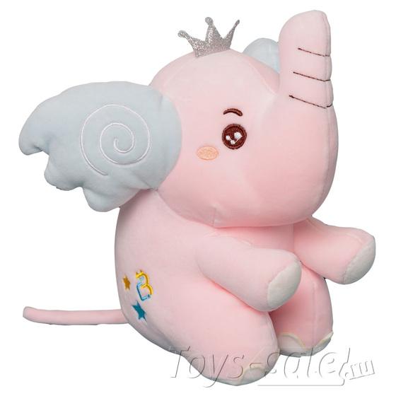 Мягкая игрушка Слоник 25 см (розовый)