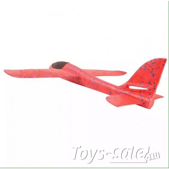Большой Самолет - Планер с LED подсветкой 46 см Красный