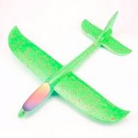 Большой Самолет - Планер с LED подсветкой 46 см Зеленый