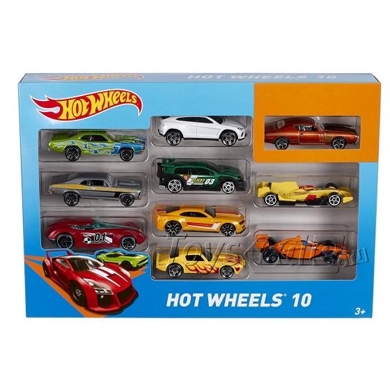 Игровой набор Хот Вилс 10 машинок