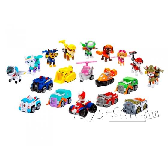 Набор игрушек Щенячий патруль - 10 героев с машинками+ Большой офис+ Автовоз спасателей
