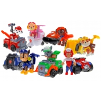 Набор игрушек Щенячий патруль - 7 героев с машинками Премиум