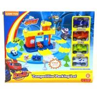 Вспыш и Чудо-машинки Игровой набор Гараж с кольцевой автодорогой