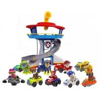Комплект Щенячий Патруль (Paw Patrol) - Большой офис + Команда из 9 героев с машинками