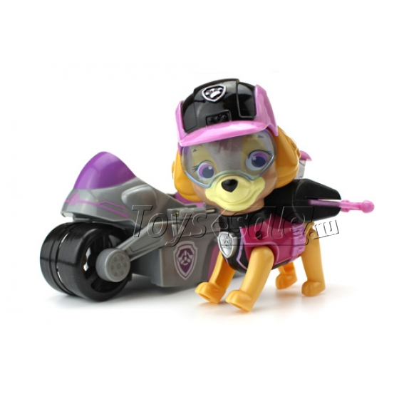 Набор игрушек Щенячий патруль - 6 героев с рюкзаками-трансформерами и большими машинками