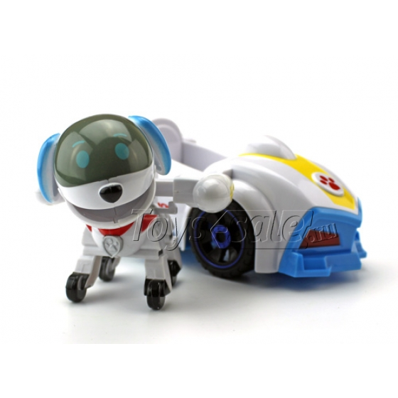 Набор игрушек Щенячий патруль - 9 героев с рюкзаками-трансформерами и большими машинками + Автовоз