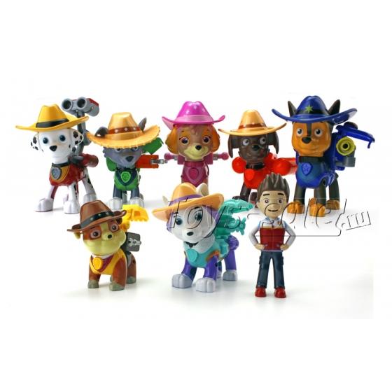 Набор игрушек Щенячий Патруль - 8 фигурок с рюкзаками - трансформерами