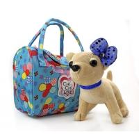 Мягкая собачка Чи-Чи Лав Чихуахуа с бантиком и сумочкой (20 см)