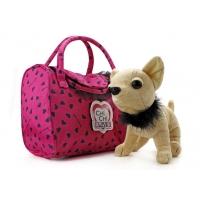 Мягкая собачка Чи-Чи Лав Чихуахуа с воротничком и сумочкой (20 см)