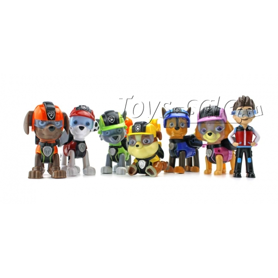 Набор игрушек Щенячий Патруль 6 щенков и Райдер (Шпионы)