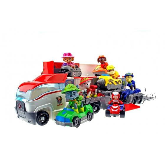 Малый автовоз Щенячий Патруль + 7 героев