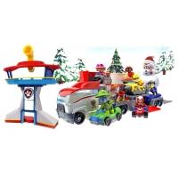 Комплект Щенячий Патруль - Офис + Новогодний Автовоз спасателей