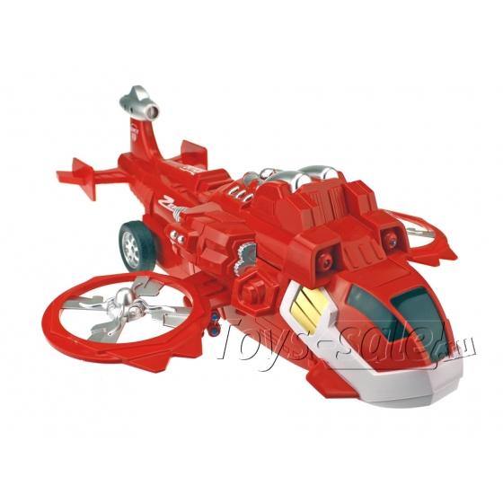 Большой радиоуправляемый Трансформер Коптер Красный