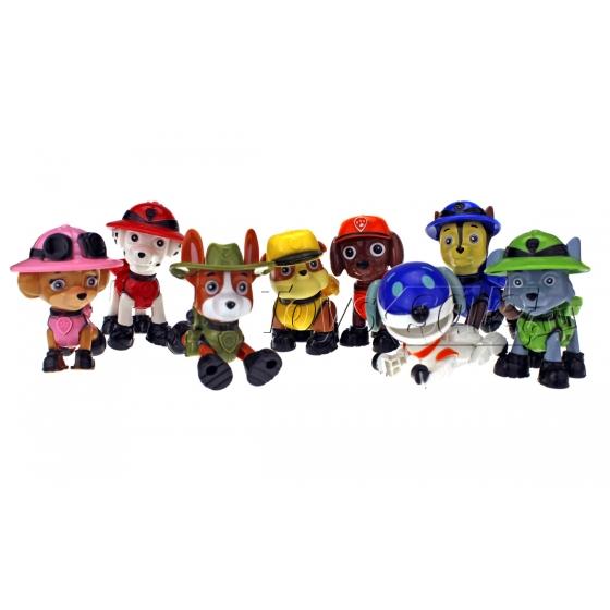 Набор игрушек Щенячий Патруль 8 щенков - Джунгли Box