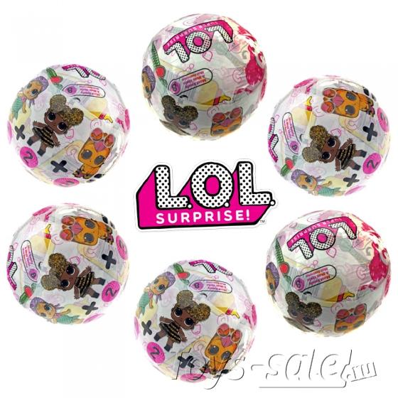 Кукла-сюрприз LOL в шарике серия VIP - набор из 6 шариков