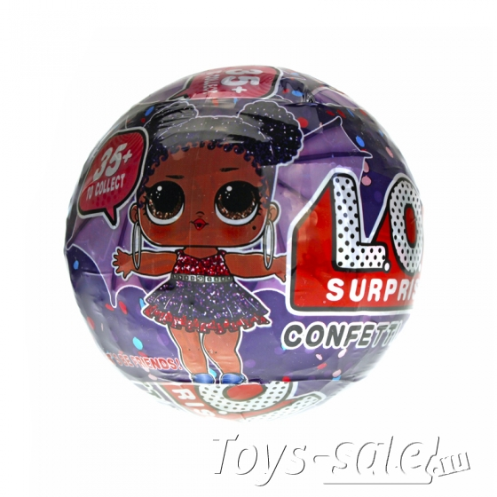 Кукла-сюрприз LOL в шарике серия 8 Confetti Pop
