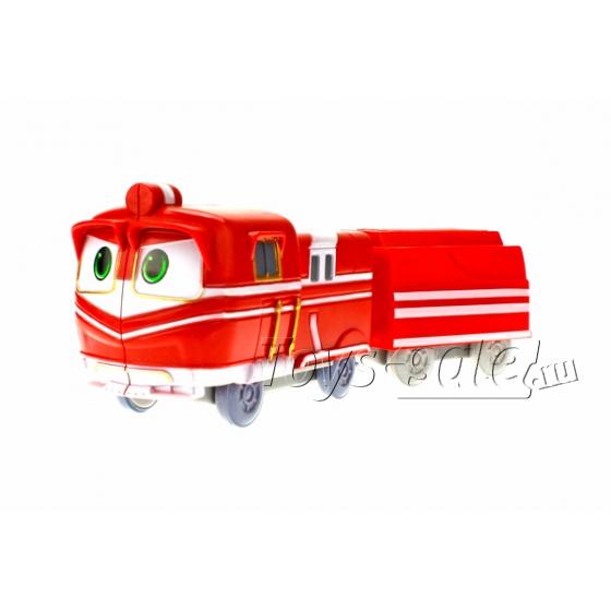 Набор 2 Роботов-Поездов и паровозики (Robot Trains)